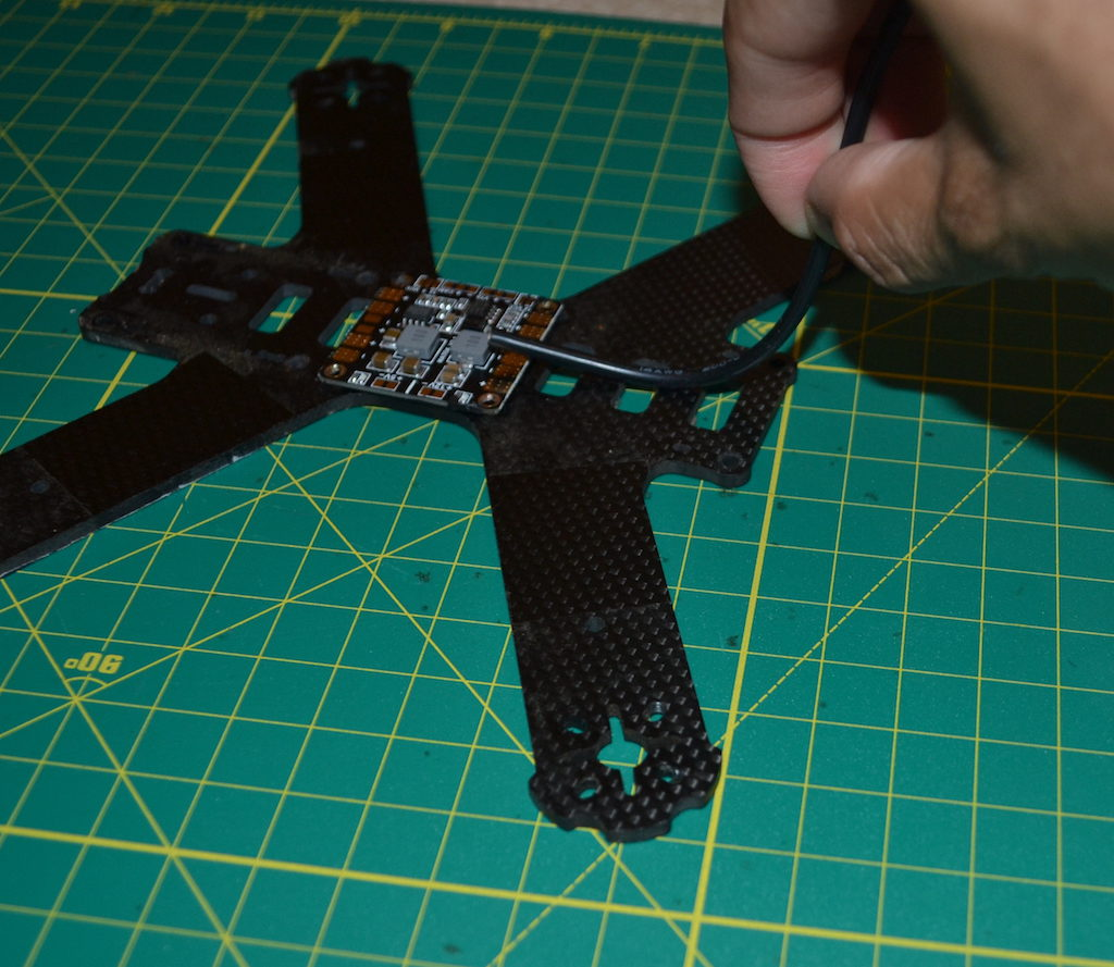 How To Build A Dronestep By Step Complete Guide Wiring Harness Quadcopter Cut The Wires That Length And Strip Both Ends Of Negative Positive Wire Expose Bit3 5 Mm Bare Using Your Soldering Iron